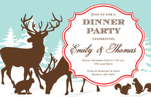 Reindeer Woodland Holiday Invitations