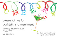 Designer Cheer Loops Holiday Invitations