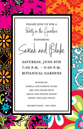 Whimsical Bohemian Pattern Invites