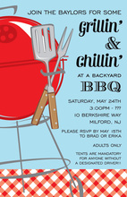 Summer Grill BBQ Invitations