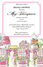 Bridal Shower Table Invitations