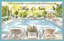 Cozy Lounging Poolside Summer Invitations