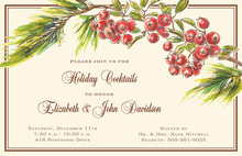 Watercolor Berry Boughs Invitation