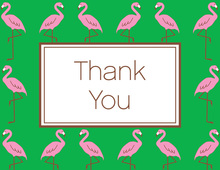 Pink Flamingos Thank You Cards