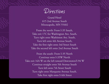 Elegant Swirl Purple Enclosure Cards