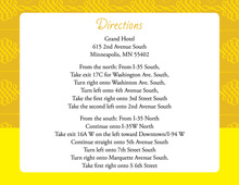 Elegant Swirl Yellow Enclosure Cards