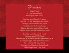 Elegant Swirl Red Enclosure Cards
