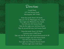 Elegant Swirl Dark Green Enclosure Cards