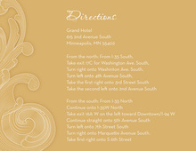 Traditional Old Gold Baroque Flourish Enclosure Cards