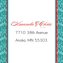 Teal Damask Flanks Stickers