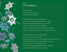 Green Winter Snowflakes Enclosure Cards
