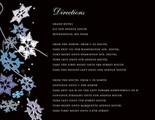Black Winter Snowflakes Enclosure Cards