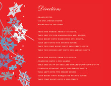 Red Winter Snowflakes Enclosure Cards
