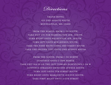 Modern Purple Flourish Enclosure Cards