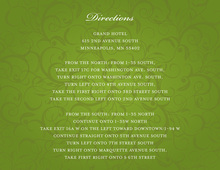 Modern Green Flourish Enclosure Cards