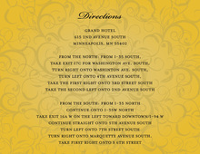 Modern Gold Flourish Enclosure Cards