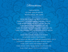 Modern Blue Flourish Enclosure Cards