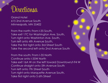 Night Swirl Purple Enclosure Cards