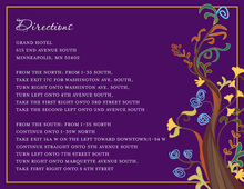 Abstract Vines Purple Enclosure Cards