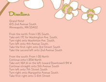 White Orchid Pink Enclosure Cards