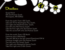 White Orchid Black Enclosure Cards