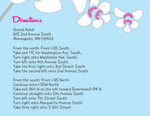 White Orchid Blue Enclosure Cards