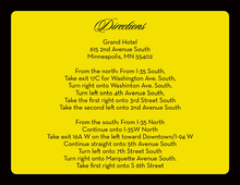 Black Border Yellow Enclosure Cards