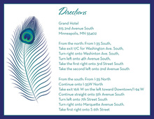 Fine Peacock Feather Enclosure Cards