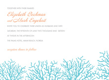 Beautiful Blue Coral Beach Invitations