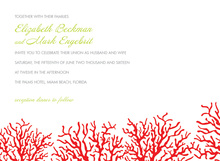 Romantic Red Coral Beach Invitations