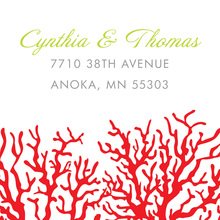 Romantic Red Coral Stickers