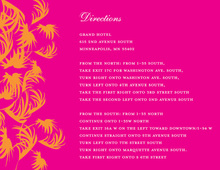 Swaying Palms Hot Pink Enclosure Cards