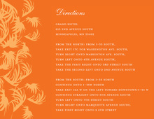 Swaying Palms Orange Enclosure Cards