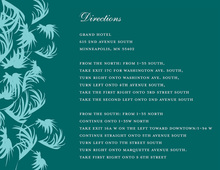 Swaying Palms Teal Enclosure Cards