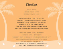 Fresh Orange Tropics Enclosure Cards