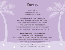 Lavender Tropics Enclosure Cards