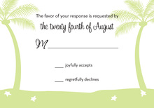 Adorable Cherished Tropics RSVP Cards