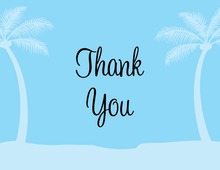 Sentimental Blue Tropics Thank You Cards