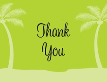 Adorable Cherished Tropics Thank You Cards