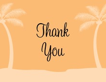 Fresh Orange Tropics Thank You Cards