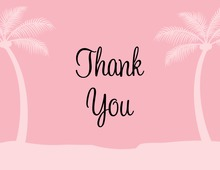 Softly Pink Tropics Thank You Cards