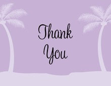 Lavender Tropics Thank You Cards