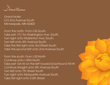 Stylish Trendy Orange Dahlia Enclosure Cards