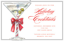 Christmas Martini Invitations