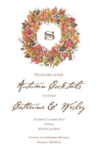 Rustic Wreath Holiday Invitations