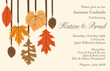 Harvest Trim Autumn Invitations