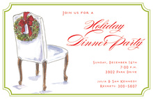 Wreath Chair Invitation