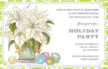 Light Poinsettia Invitation