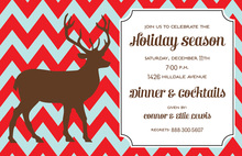 Chevron Deer Invitations