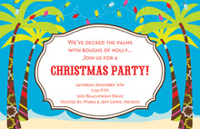 Jolly Palms Ocean Waves Holiday Invites